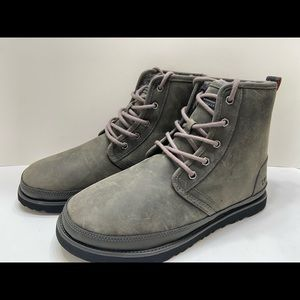 NEW UGG Harley Men's Waterproof Leather Chukka Boots Grizzly Gray Size 9